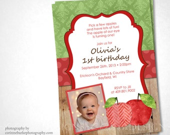 Apple Picking Birthday or Special Event Invite - DIY Printable