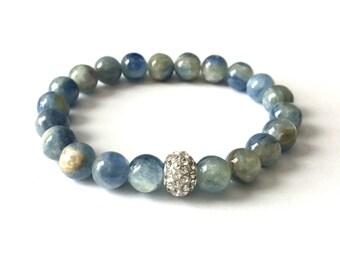 kyanite bracelet, kyanite bracelet, bracelet, kyanite jewelry, kyanite, handmade bracelet, kyanite stones, kyanite beads, blue kyanite