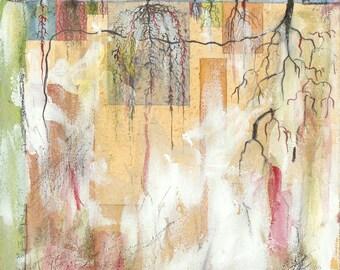 Roots, A Life Graph - Archival Print of Original Watercolor Drawing; Cross-Cultural Adjustment