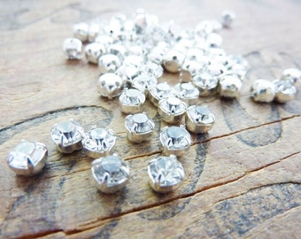 Sew On Rhinestone Vintage 5mm Crystal Sew On Rhinestones (25)