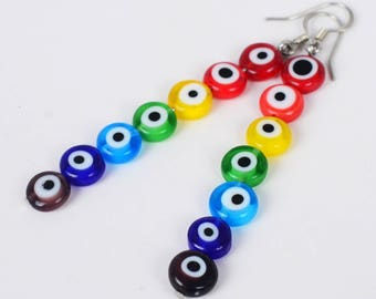 Rainbow of Protection Earrings (Design B) (001478)