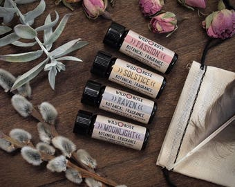 Perfume Sampler Botanical Fragrance Organic Natural Oil Gift Set Stocking Stuffer