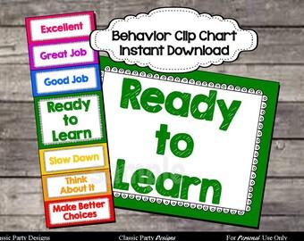 Behavior Clip Chart - Digital Printable File - INSTANT DOWNLOAD