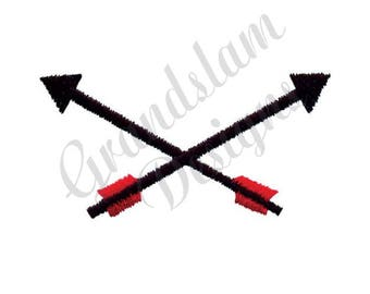 Crossed Arrows - Machine Embroidery Design