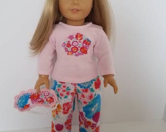 American Girl Doll Pajamas with or without sleep mask.