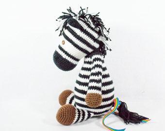 Crocheted Zebra