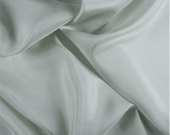 Sage Silk Crepe de Chine, Fabric By The Yard