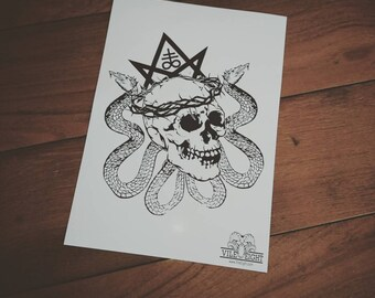 A4 Crown of Thorns Poster Print