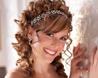 Bridal Headband - Wedding headpiece - Crystal Headband - Bridal headpiece - Prom headband - Bridal tiara - Quinceanera headband - Collette