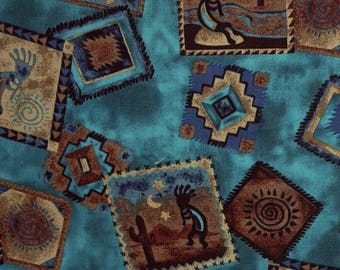 Southwest Patchwork by David Textiles Inc. Cotton Fabric style # 111916 OOP
