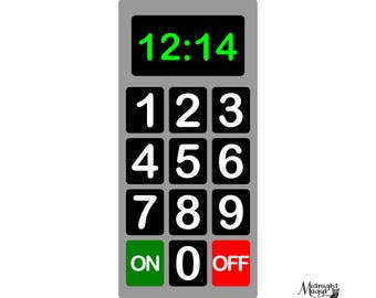 Play Kitchen Simple Microwave Control Panel SVG