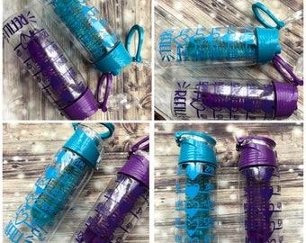 Personalised water bottle , motivation personalised bottle , slimming world , fruit infuser bottle