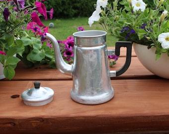 Vintage kettle Aluminium kettle Vintage teapot Vintage coffee pot Metal kettle Soviet vintage kettle Farmhouse kettle