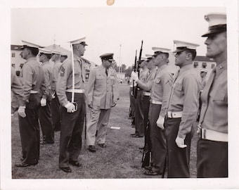 Military Inspection - Original Found Photograph, Photography, Snapshot, Old Photo, Family photos