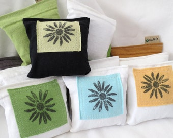 Upcycled Lavender Sachet Dryer Pillows PATCHED Set of Three all patched