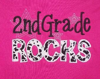 Second Grade Rocks shirt 2nd Grade School Shirt