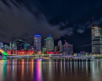 Brisbane at Night Print