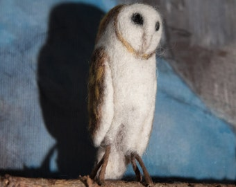 Barned owl needle felted