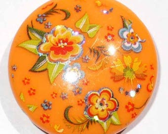 1 Pearl domed disc Bollywood orange 31mm AR176 orange