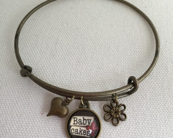 Hey Baby Cakes Handcrafted Charm Bracelet