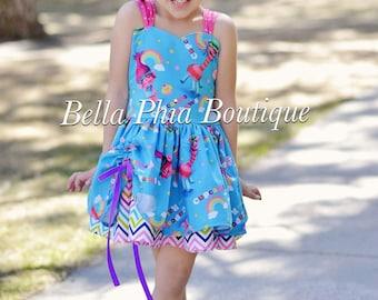 Blue Trolls Poppy Dress