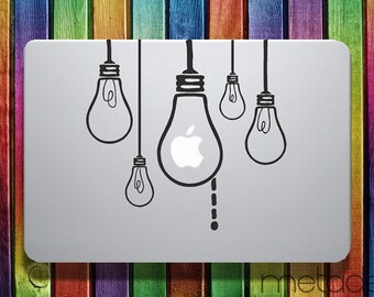"Hanging Lightbulbs Vinyl Decal Sticker for 11"", 13"" and 15"" Apple Laptop Macbook Air Pro"