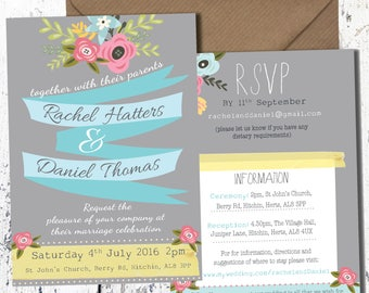 Blooming Floral Wedding Invite