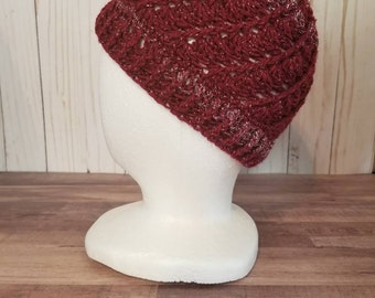 Crimson and Silver Crochet Toddler Winter Hat, Fall Fashion, WSU Inspired Fashion