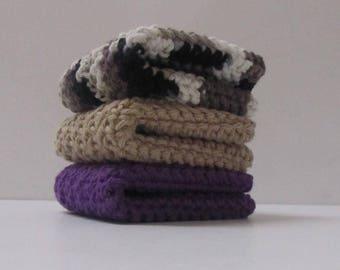 Cotton Bath Cloths Washcloths Set of 3
