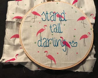 Flamingo Embroidery