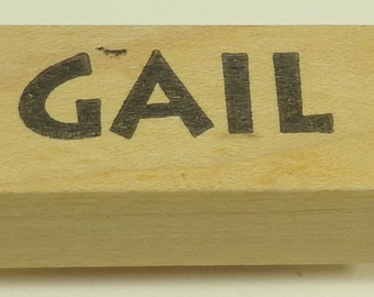 Gail Wood Mounted Rubber Stamp