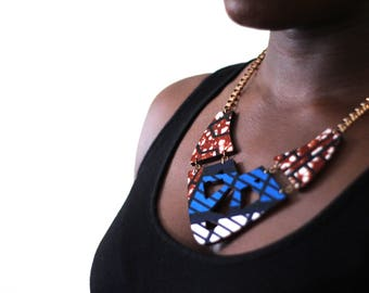 African Print 'Yaya' Statement Necklace