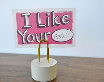 Over-sized Paperclip Photo holder - Paper weight - Note holder