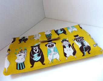 Must have wallet - Circus animals in yellow