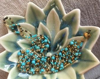Bohemian Blue Beaded Bracelet