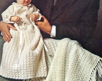 Baby Crochet Pattern, Christening Gown Crochet Pattern & Baby Blanket Crochet Pattern, Christening Dress INSTANT Download Pattern PDF (1323)