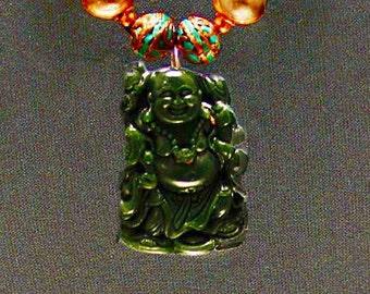 Jade Buddha & Carved Tree Agate