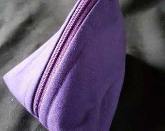Triangle Small Zippered Pouch