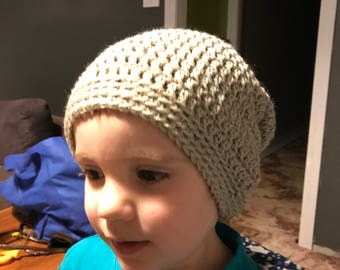 Crochet slouch beanie made to order, any colour or size