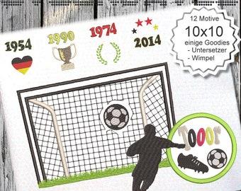 Tor Fußball 10x10 WM - Machine Embroidery  Designs - 4x4 - Instant Download