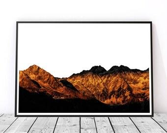 Mountain Ridge Art Print, Instant Download, Printable Poster, Wall Art