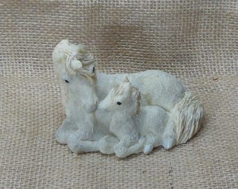 Vintage  Stone Critters Unicorn Mother and Baby, #SC-134,NEW LISTING!!!,#VB7329