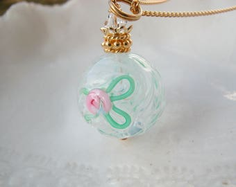 Reticello Murano Round Glass Necklace
