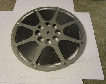 "9 3/4"" 16mm film reels metal"