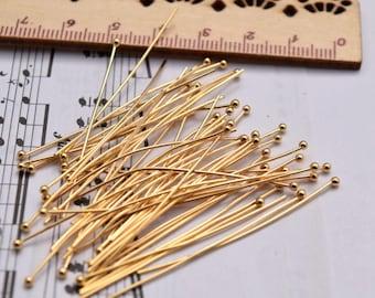 10 of 45mm 14K gold filled ballpin ball pin  BQ3