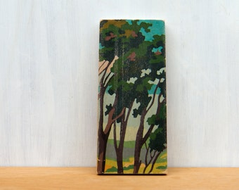 Paint by Number Art Block 'Treetops' - summer, landscape, trees