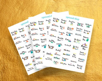 Holiday Planner Stickers,Holiday Celebration Stickers,Planner Stickers,Holiday Planner,USA Holidays Planner Stickers,Holiday Stickers,821