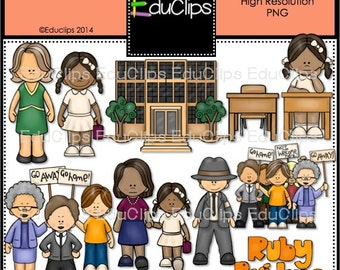 Ruby Bridges Clip Art Bundle