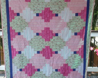 Pink Baby Girl Quilt -Lap Size