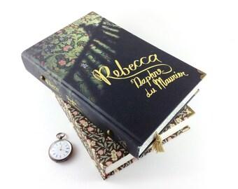 """Rebecca, Daphne du Maurier, Book gift, Evening bag, Jewellery Keepsake Box, Book Clutch, """"Last night I dreamt I made a book clutch again"""""""